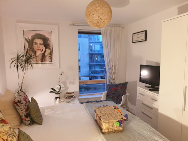 Superking Room in fab apt with paid parking permit