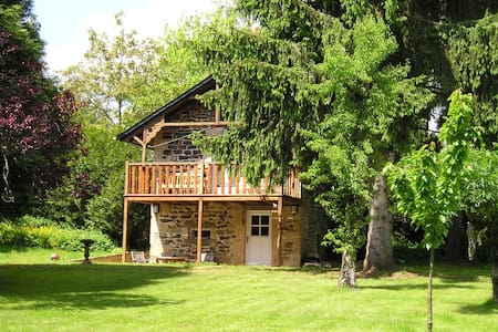 A charming, fully equipped little gîte (chalet) with privacy and comfort for two persons. The gîte is in our garden, access via separate gate.