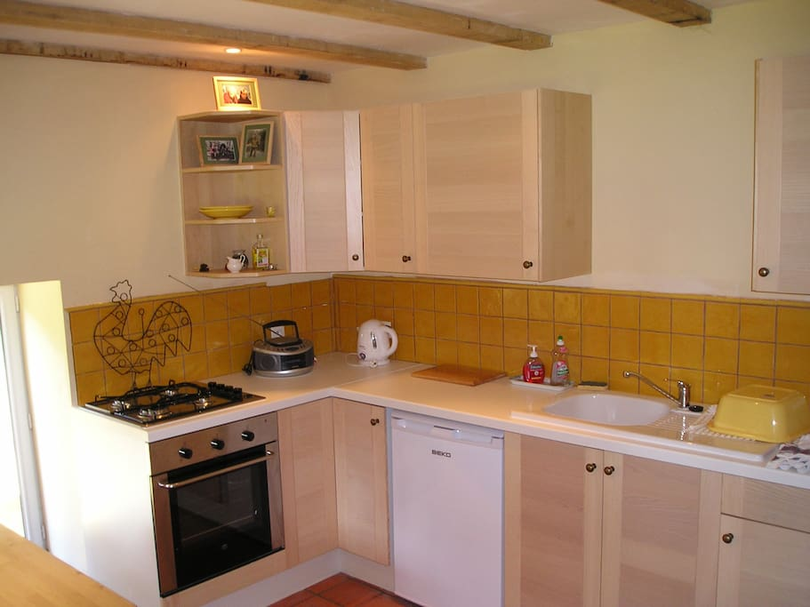 Fully equipped kitchen of the chalet