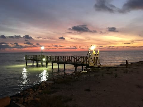 Indianola Waterfront Cabin with  Lighted Pier