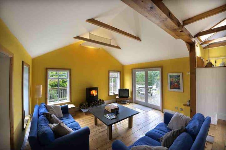 open plan living room/sitting room