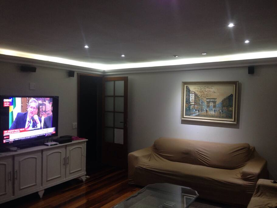Living room and cable TV