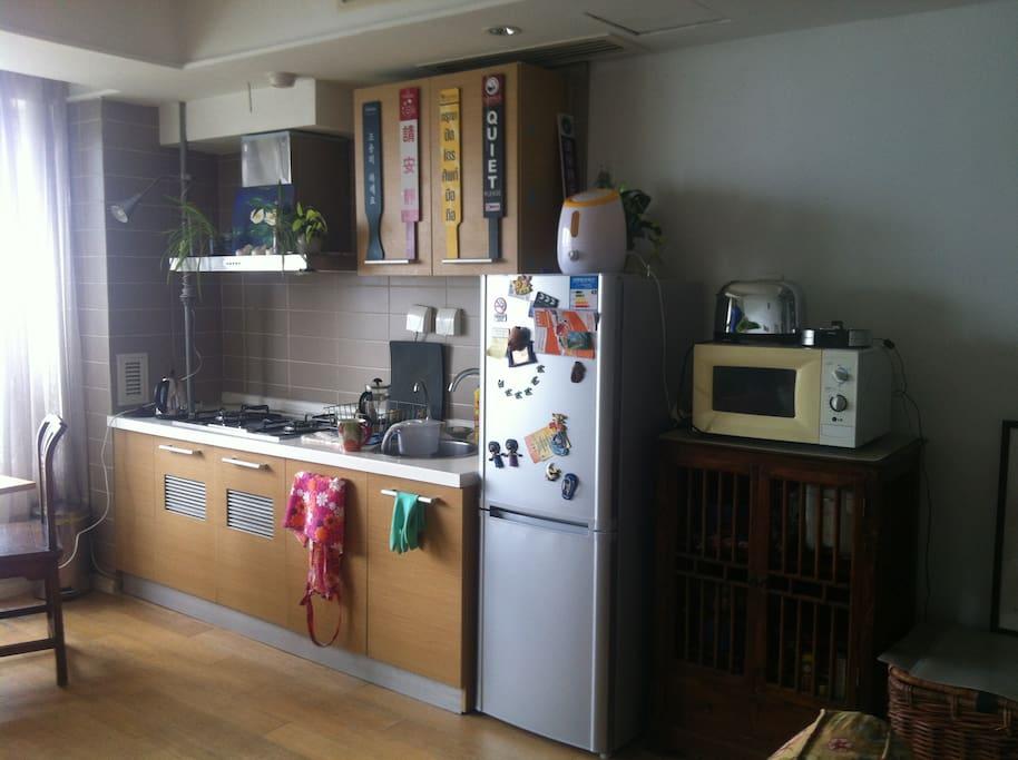 Open kitchen down stairs