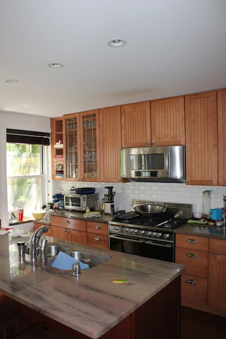 Enormous and beautifully appointed chef's kitchen