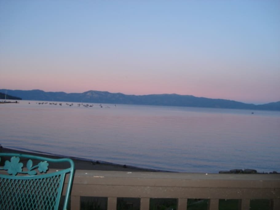 evening at Tahoe