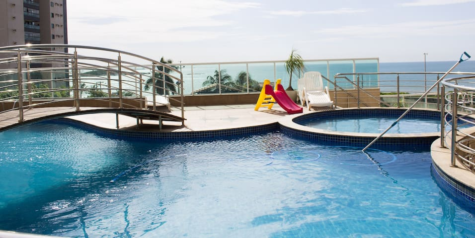 Apartamento super confortavel Praia de Itaparica - Vila Velha - อพาร์ทเมนท์
