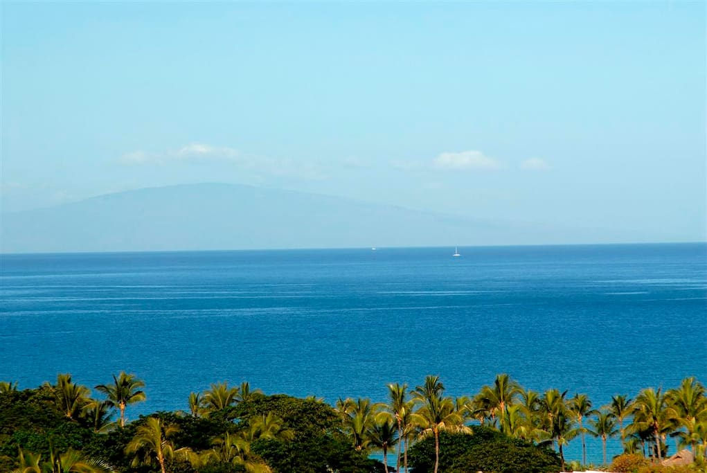 View from our upper level Lanai