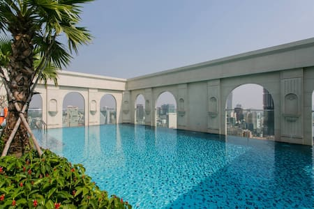 1 BR apt ❤ river view, FREE rooftop pool, central - Ho Chi Minh City - Apartment
