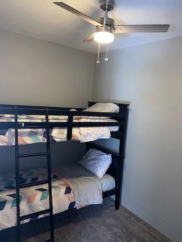 Bedroom 4: Twin over twin bunk bed