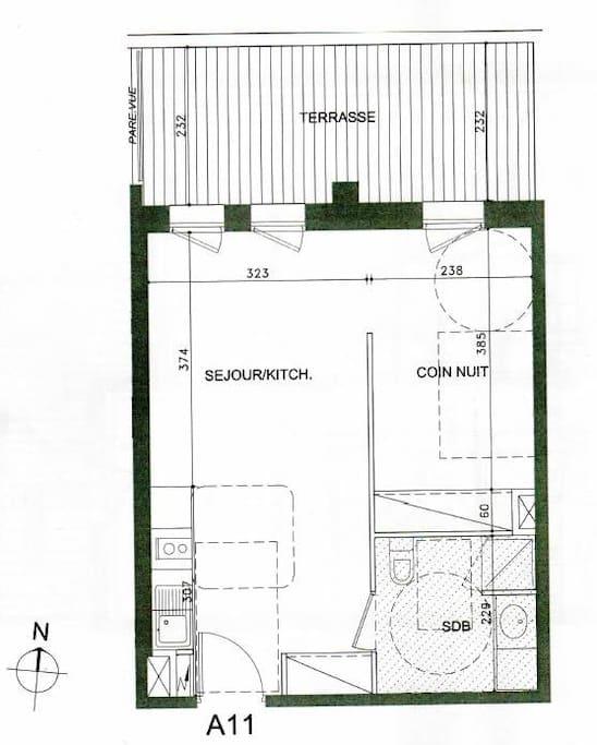 Plan appartement, livré en février 2014