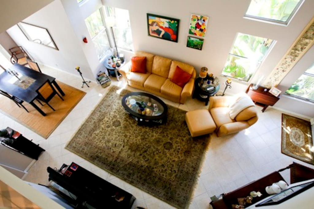 This is a view of living and dinning area from upstairs.