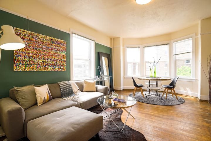 Explore Seattle from a Schoolhouse Chic Apartment