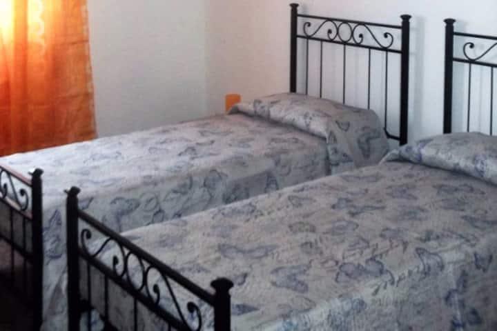 double room (2 single beds) near Todi center