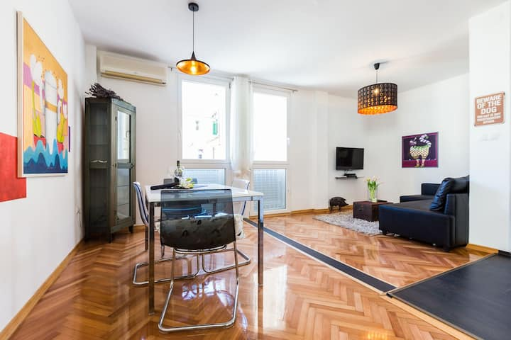 Azzurro apartments / Aloise **** 2BR (4+2) apartment in old town center