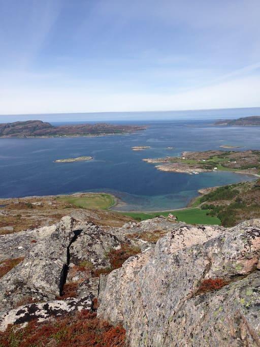Utsikt fra fjelltopp