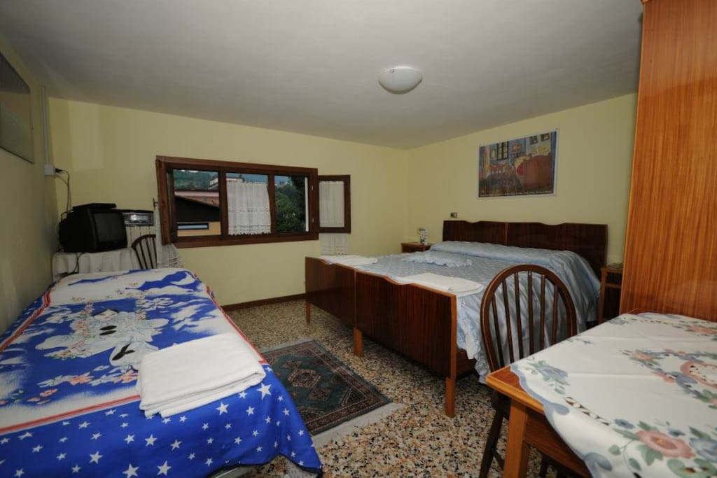 La camera tre posti letto