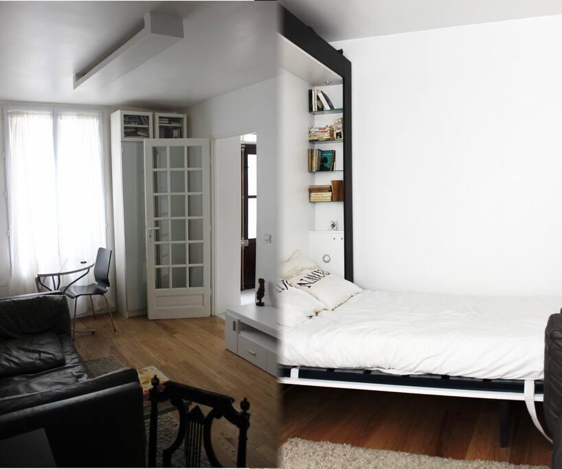 Charming studio apartment in paris appartements louer - Location appartement meuble ile de france ...