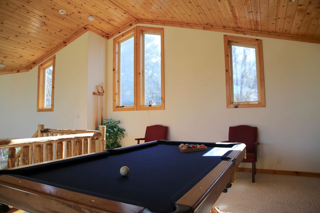 Pool Table Front Window