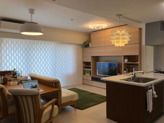 4BR condo/Flat rate for 7/Nearby Miyazaki Sta.
