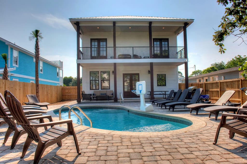 6br 6ba Modern Beach House W Prvt Heated Pool Houses For Rent In Destin Florida United States