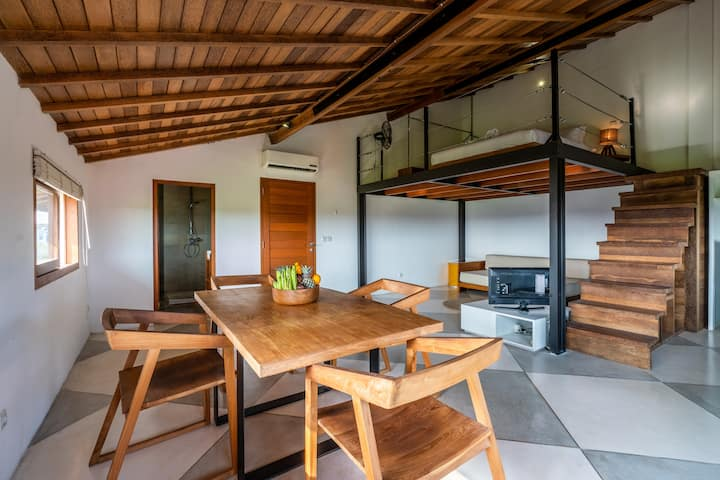 Clean, Simple & Chic Canggu Loft Apartment