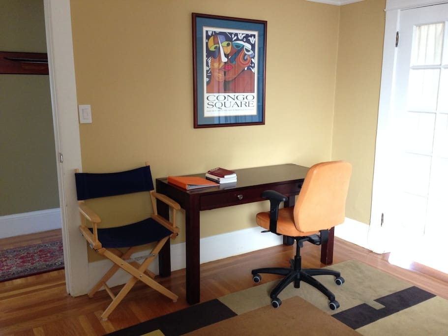 Writing desk in the room you're renting