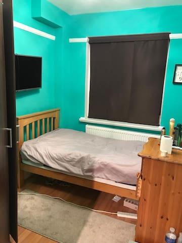 Single bedroom with wardrobe plus private bathroom