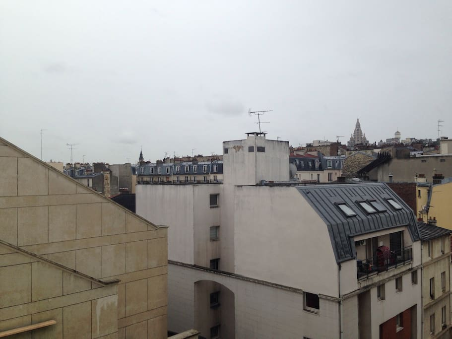 Nice view above Parisian roofs
