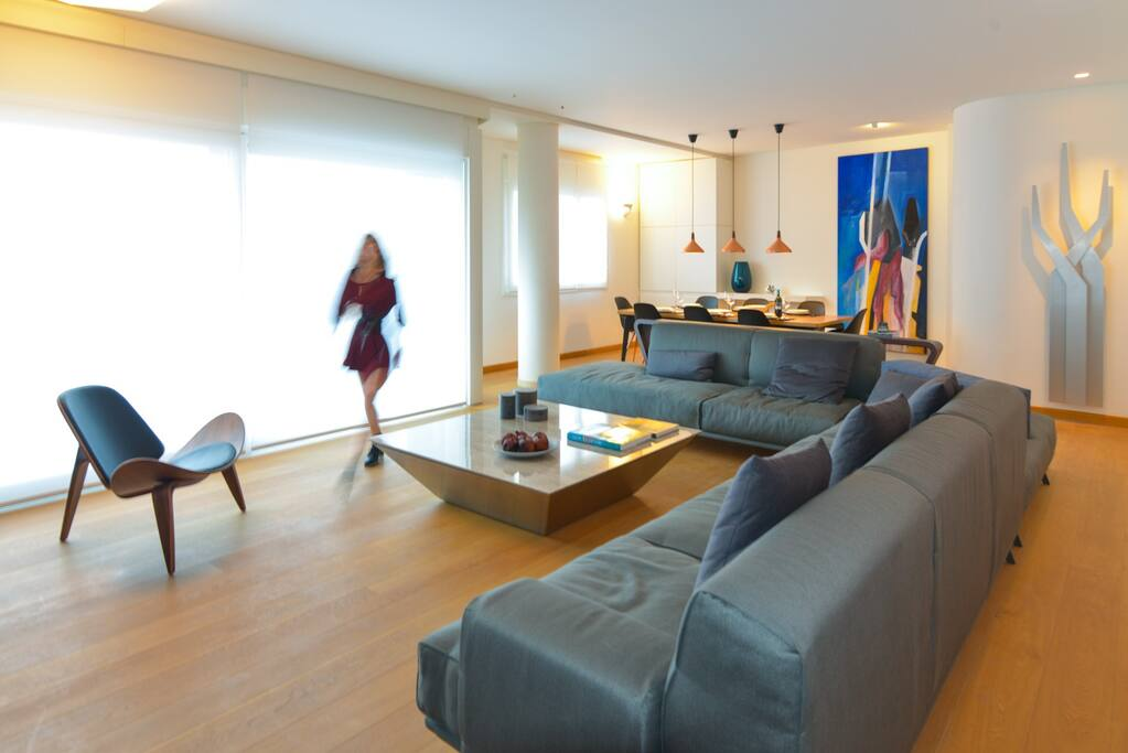 Superior design and fine materials have created a luxurious apartment