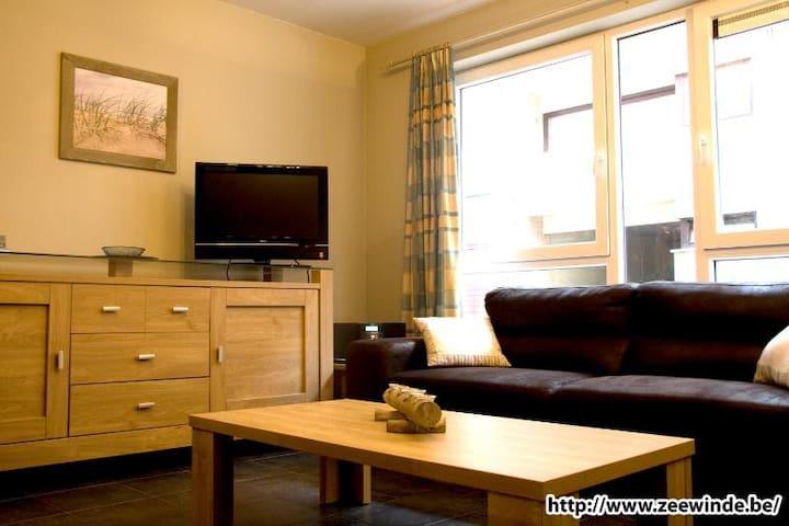 Vakantiewoning Bredene a/d zee (met ruim terras) - Bredene - Apartament