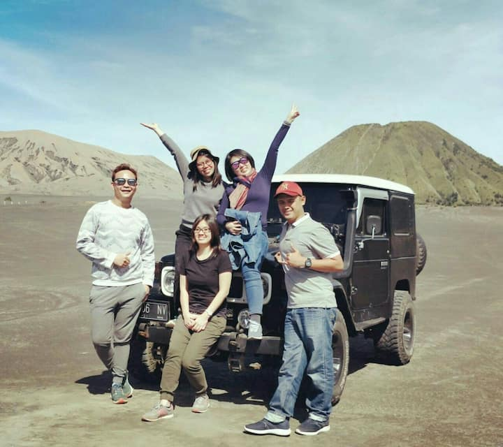 Bromo Ijen tour, for 6 people 3D/2N.90$/person