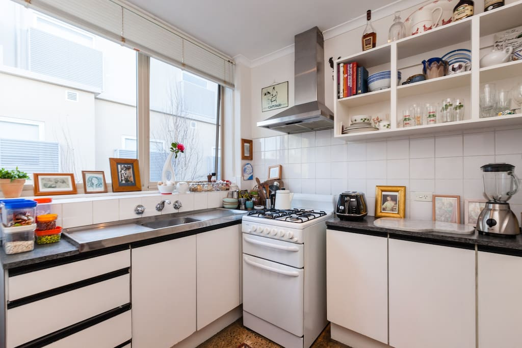 Kitchen is quite spacious and user friendly for a one bedder