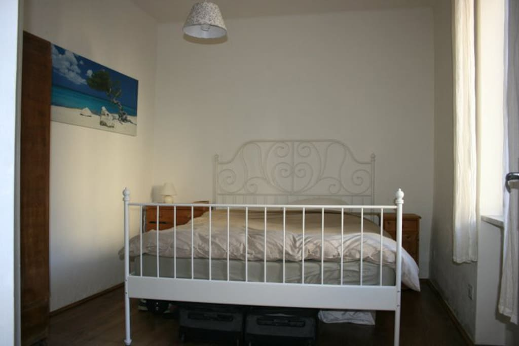 Huge and very comfortable bed in the master bedroom (there is plenty of wardrobe space too)..