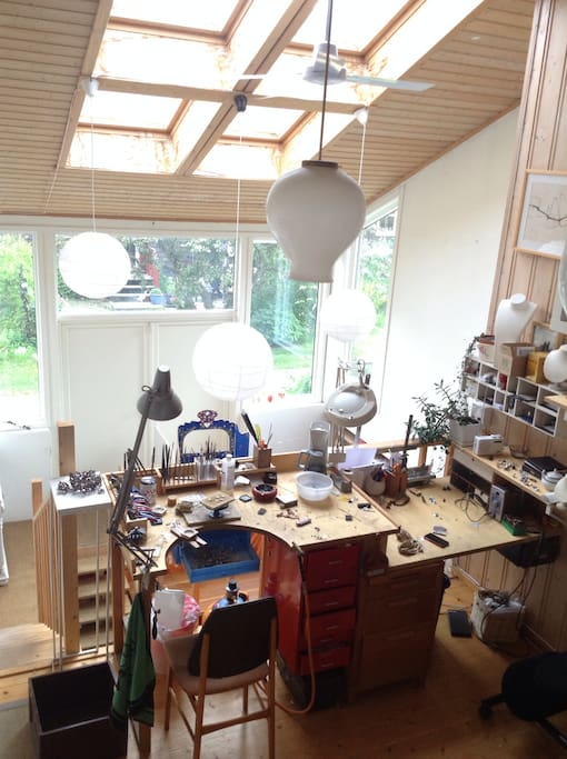 Workshop, looking into the rest of the atelier