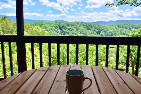 Cabin w/ Stunning Views, Hot Tub & Great Location!
