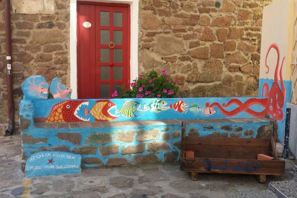 Un angolo pittoresco dell'isola di Capraia