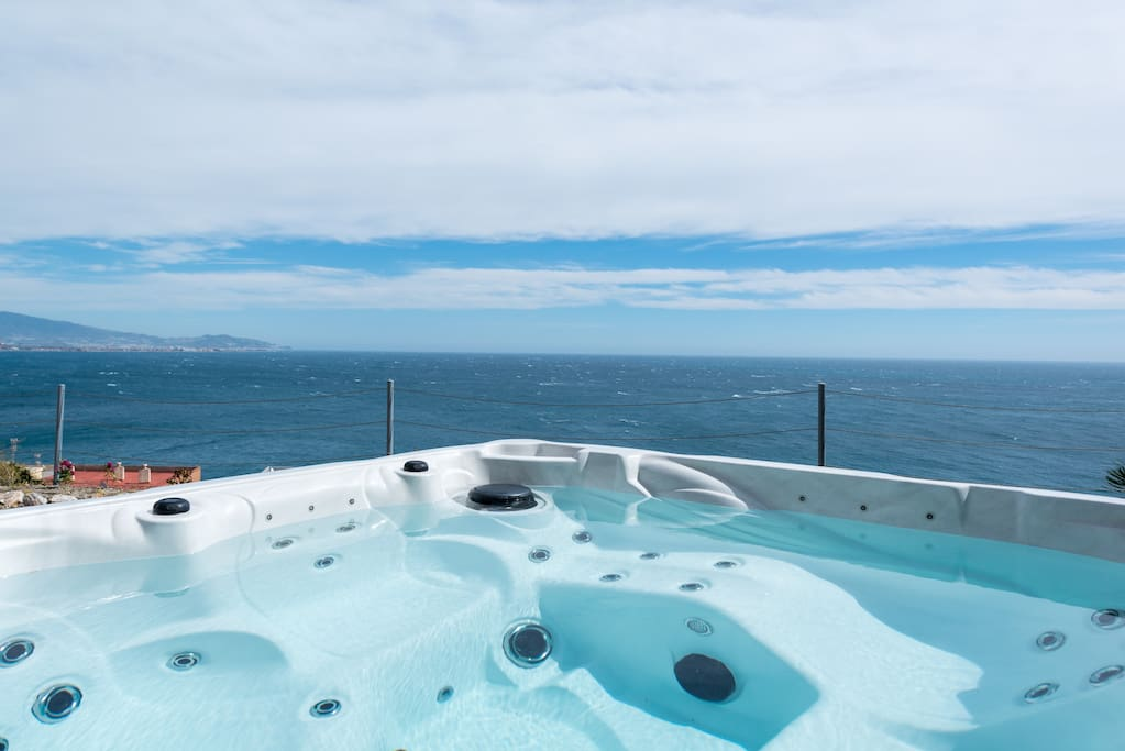 Luxury: Private hot tub with fantastic views