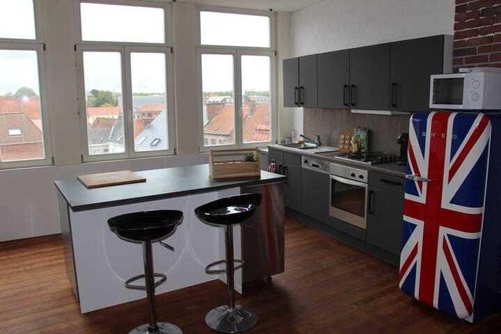Appartement type loft centre de Tournai