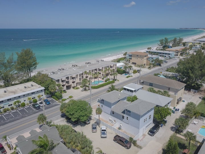 3 Bedrooms with Gulf Views Unit B ! Steps Away From Beach!