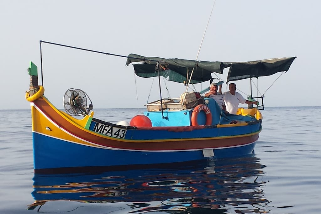 Typical Maltese fishing boat