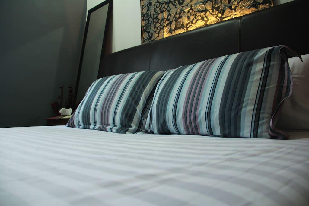 comfy pillows...