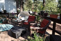 Enjoy your morning coffee in the garden on the front deck!