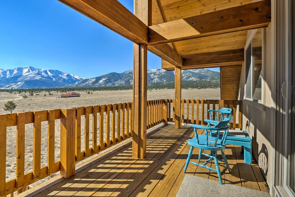 Snow-capped mountain vistas highlight your views!