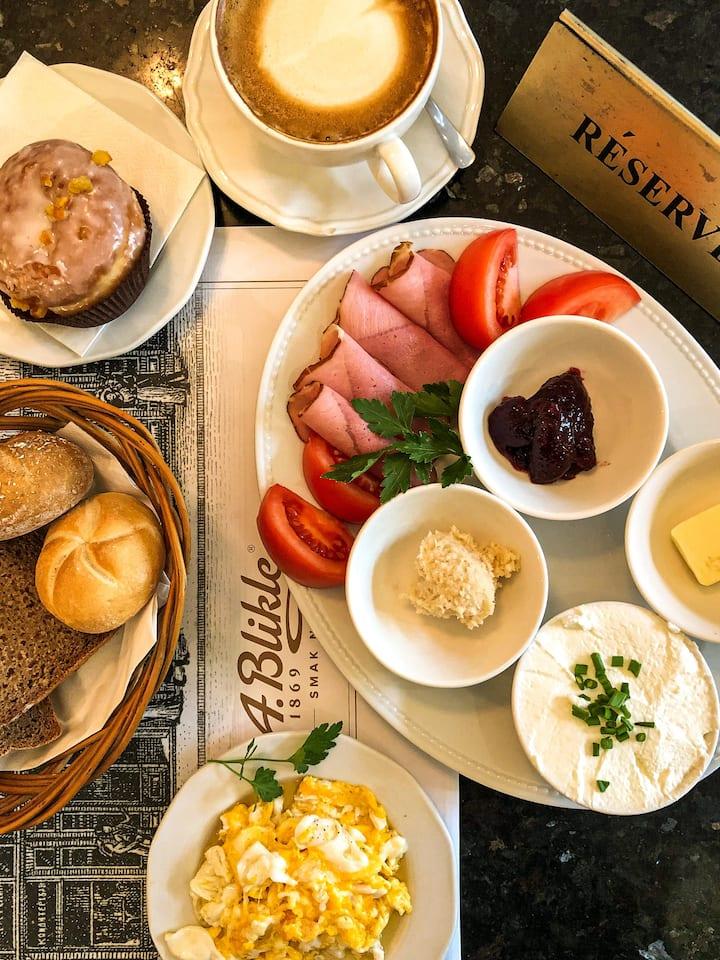 Traditional Polish Breakfast in full