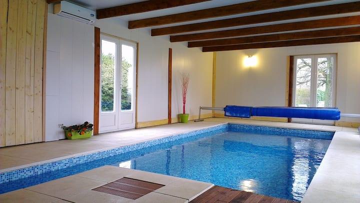 La maison avec piscine chauffée