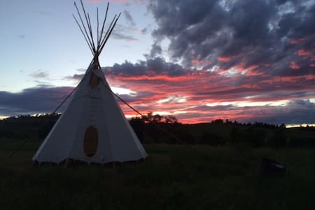 Tipi On the Prairie ~ Pine Ridge