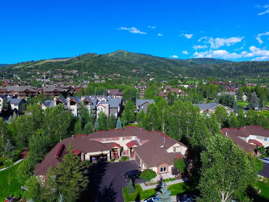 Condo complex looking at Steamboat ski area.