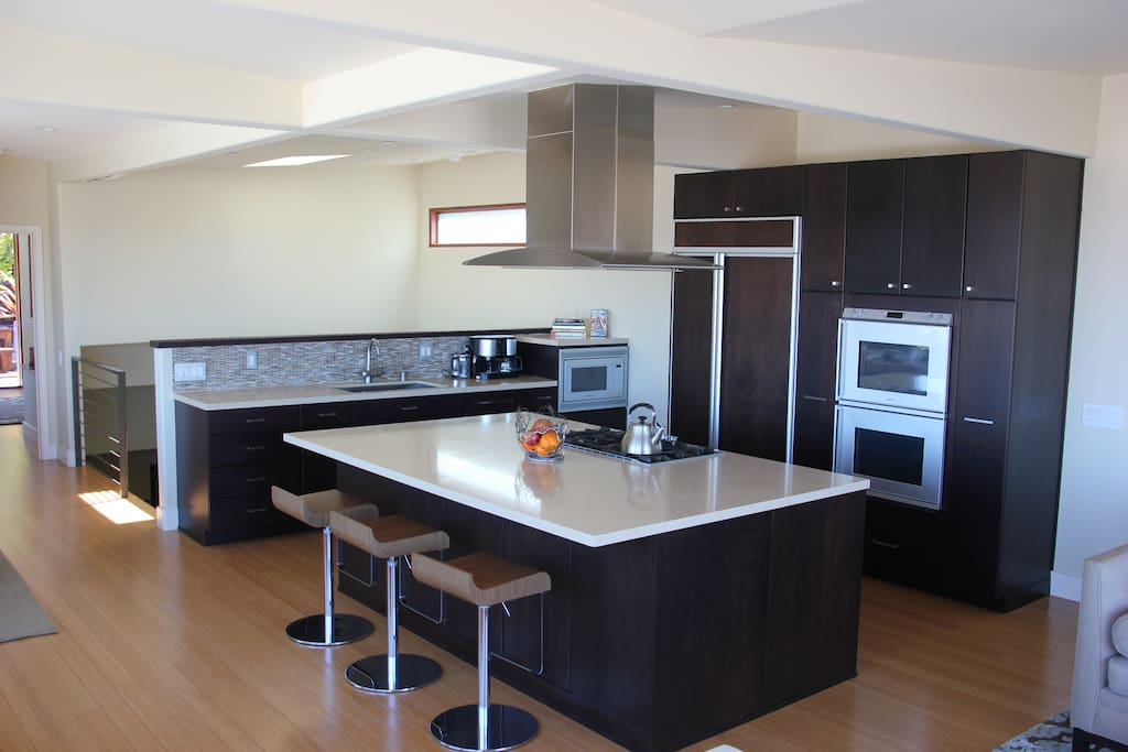 Gourmet kitchen with high end appliances