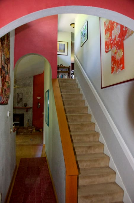 Standing in the Foyer looking to your left.  2 berms/1 bth upstairs