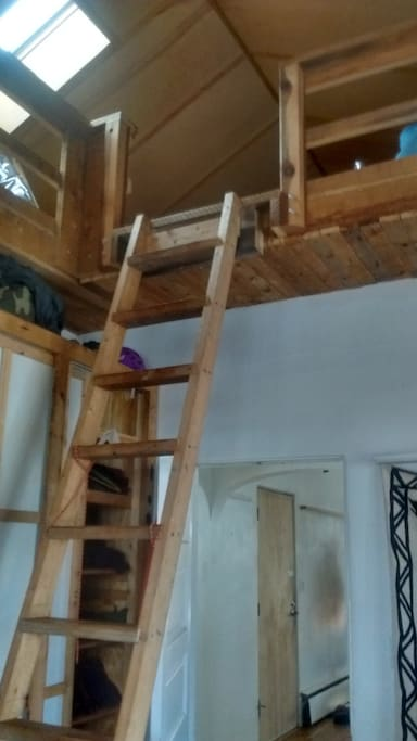 ladder to the loft,sleeps two